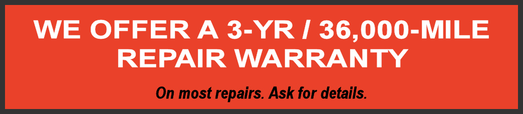 3 year 36,000 mile extended warranty on german auto repairs