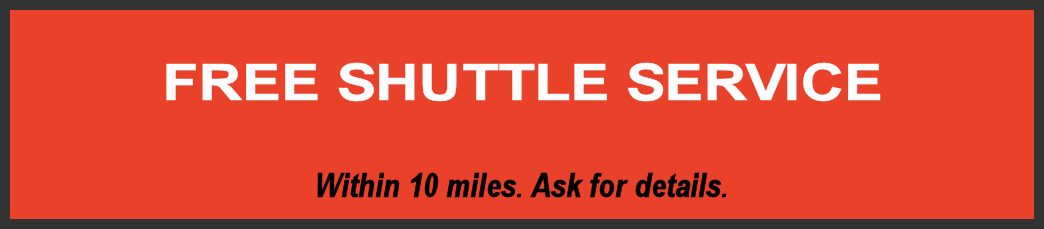 complimentary shuttle service during repairs